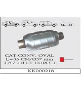 AES OVAL  35 CM/ Ø57 mm 1.8/2.0  EURO 3  K.K.