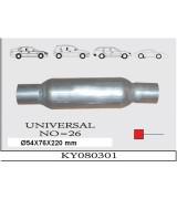 UNIVERSAL K.Y 26 TÜP SUS. Ø54X76X220 mm