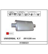 UNIVERSAL K.Y    Ø51X250 mm OVAL