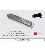 UNIVERSAL MOTORSİKLET EGZOZU 600-750 CC HONDA-KAWASAKI-SUZUKI