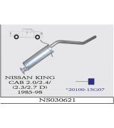 NISSAN  KING CAB  2.0/2.4 BNZ 2.3/2.7 D ARKA SUS.4X4 1985-98