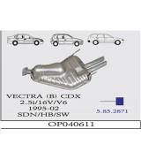 VECTRA (B) ARKA 2.5 CDX 95-2002 G/A