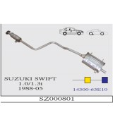 SWIFT  1.0  / 1.3i  ORTA ARKA  HB/CABRIO  1988-05
