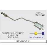 SWIFT 1.0 / 1.3i  ARKA VE ORTA SUS. HB   1989-05